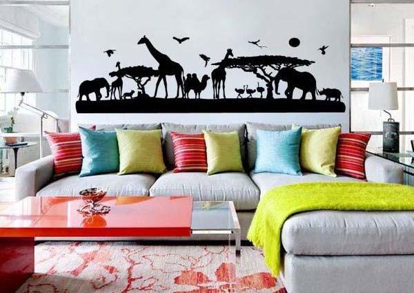 Afrikai állatok falmatrica
