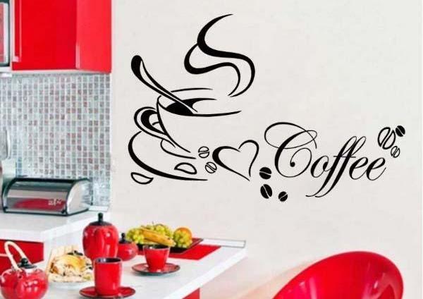 Kávéscsésze + felirat faltetoválás